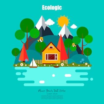 Nature ecologic scene.