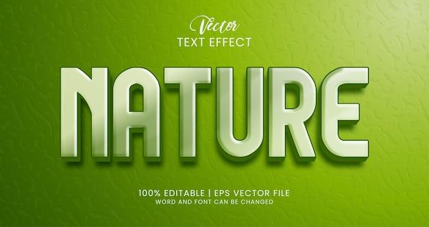 Редактируемый стиль текстового эффекта природы