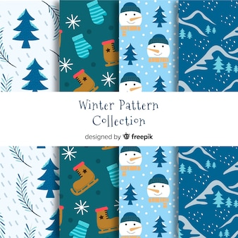 Nature elements winter pattern collection