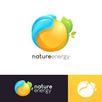 自然エネルギーのロゴのテンプレート