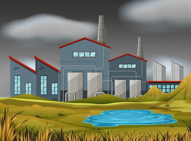 A nature factory scene