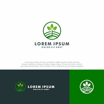 Nature farm logo template