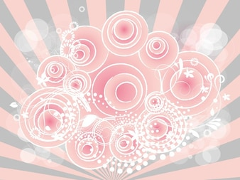 Girly backgrounds vectors photos and psd files free download nature floral circles girly background voltagebd Gallery