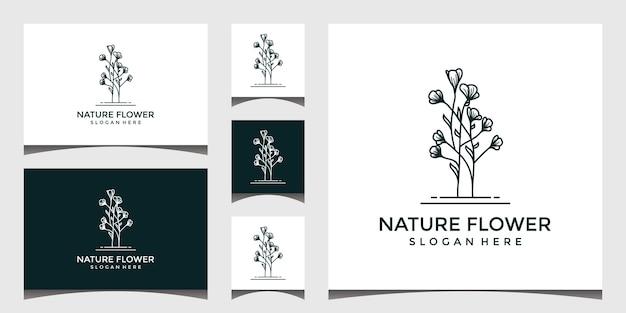 自然の花のロゴのデザイン