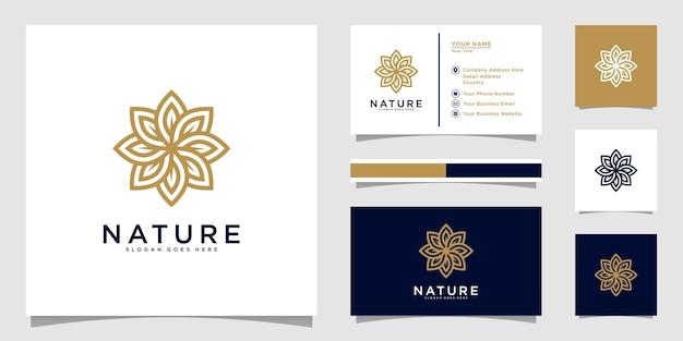 自然の花のロゴ
