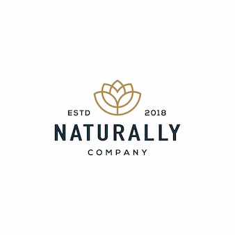 Nature flower logo