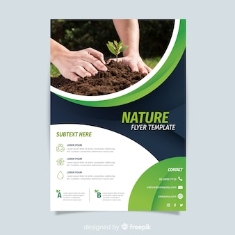 Nature flyer template concept