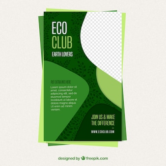 Nature flyer template with flat design