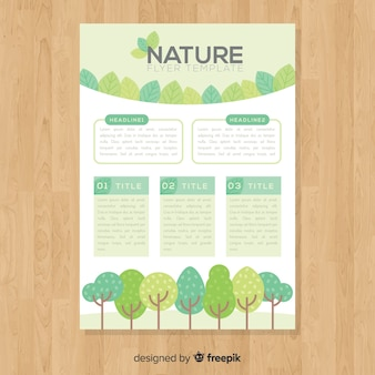 Nature flyer template with modern design