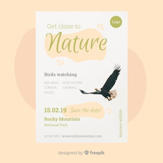 Nature flyer template