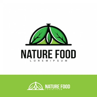 Nature Food logo illustration.