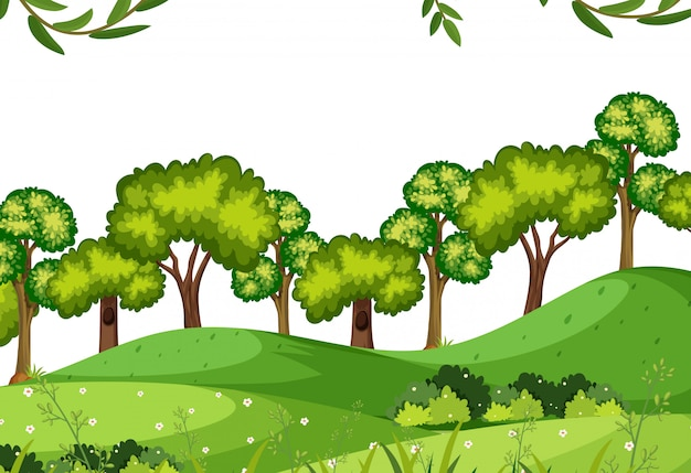 A nature forest template