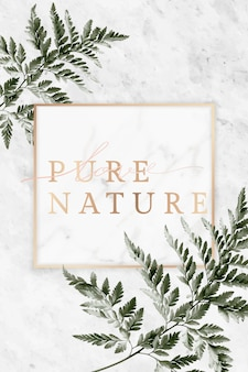 Nature frame on marble