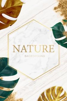 大理石の自然フレーム