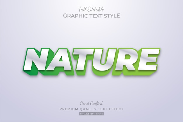 Nature green clean editable text style effect