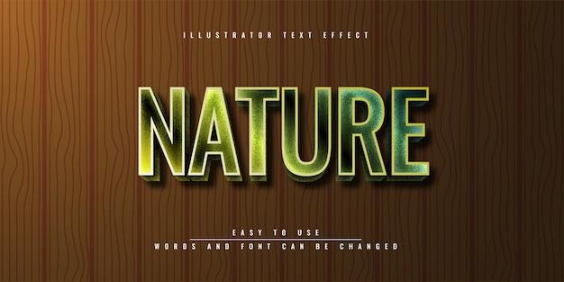 Природа зеленый редактируемый текстовый эффект шаблон дизайна
