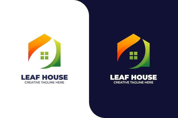 Nature green house gradient logo template