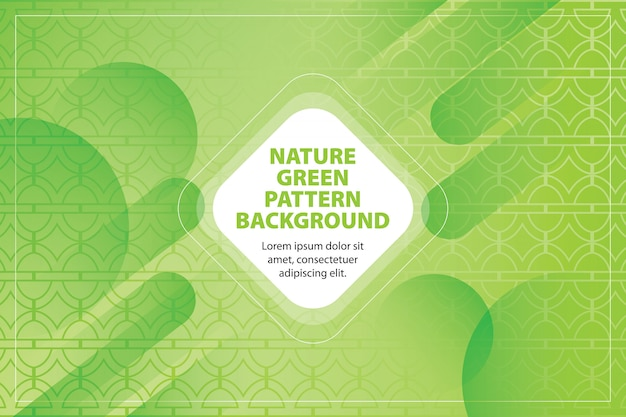 Nature green pattern shape background