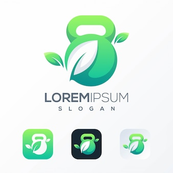 Nature gym logo template
