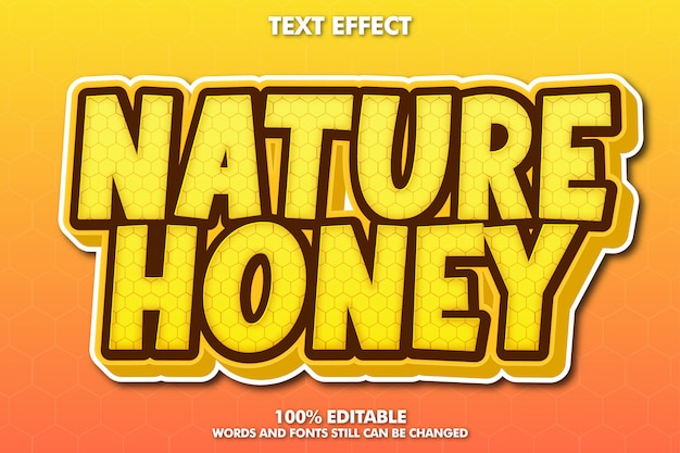 Nature honey text effect