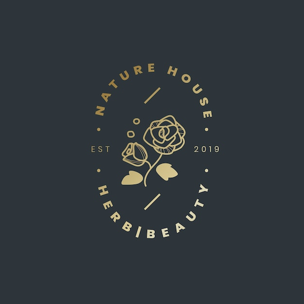 Nature house logo design vector