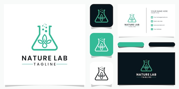 Nature lab logo design and business card