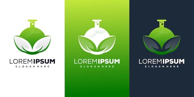 Nature lab logo design