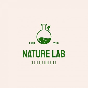 Nature laboratory logo design