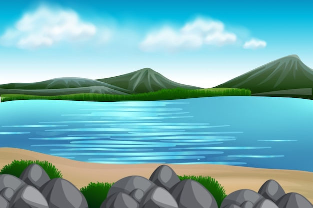 A nature lake view