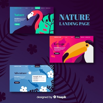 Nature landing page collection