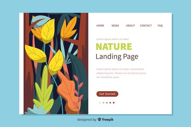Design piatto di landing page natura