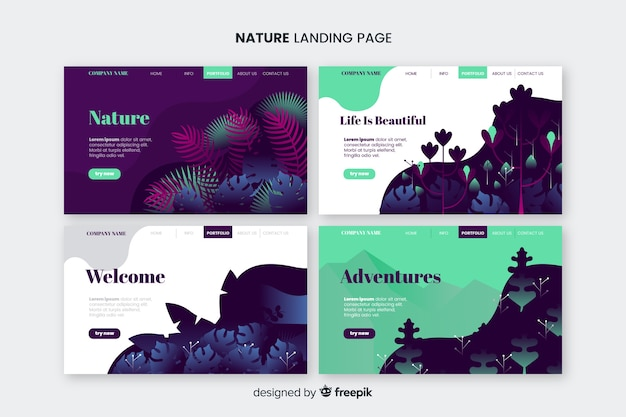 Nature landing page pack