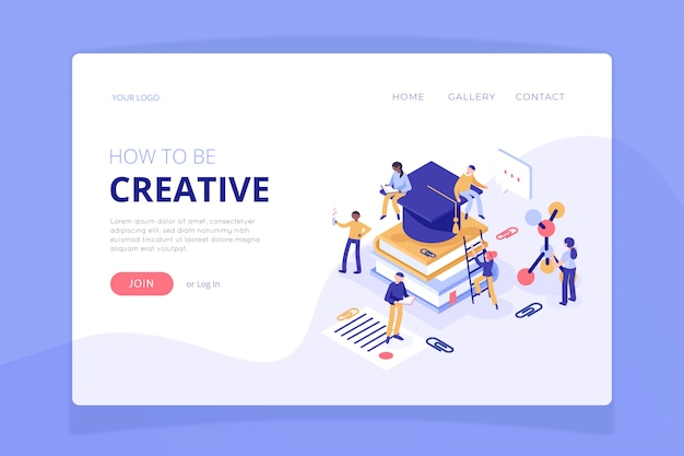 Nature landing page template