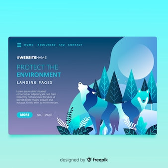 Nature landing page with design