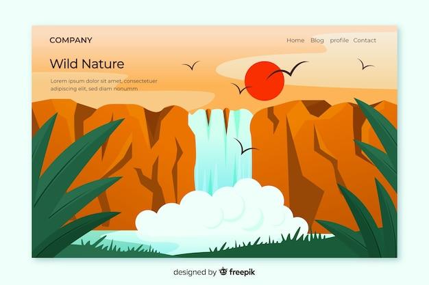 Целевая страница природы с пейзажем