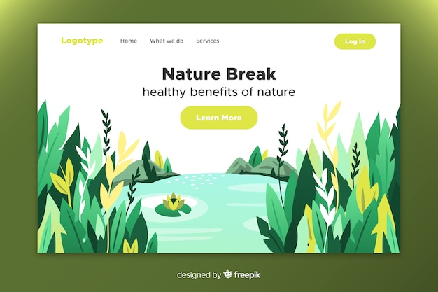 Nature landing page with landscape