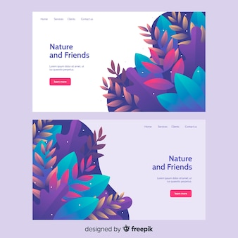 Nature landing page with vegetation