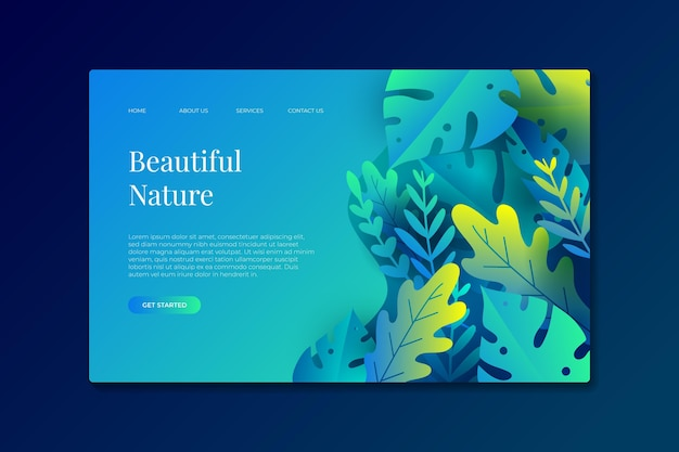 Nature landing pages template