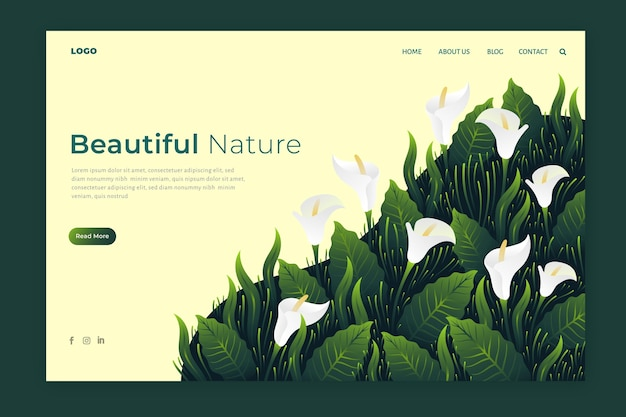 Nature landing pages
