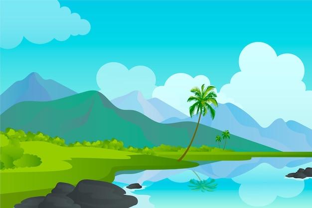 Nature landscape for conference background