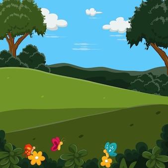 나무와 자연 풍경 숲