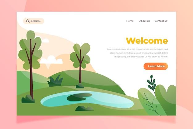 自然景観のランディングページテンプレート