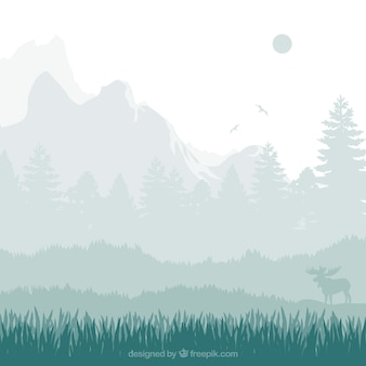 Natura paesaggio sagome