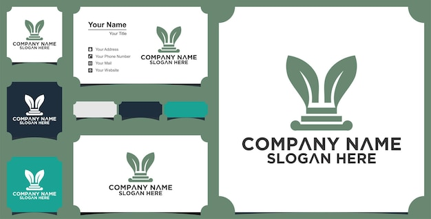 Nature law firm logo design template and business card