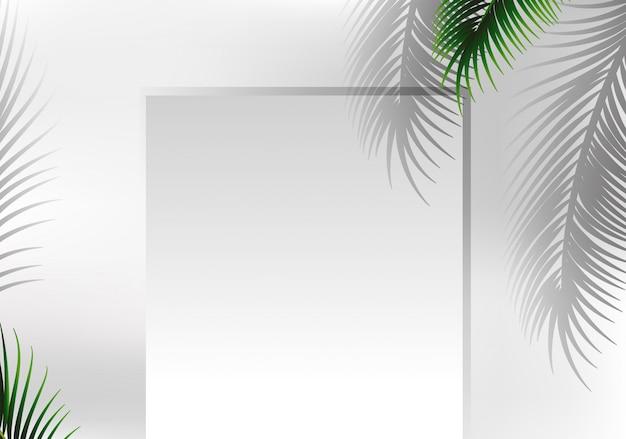 A nature leaf frame