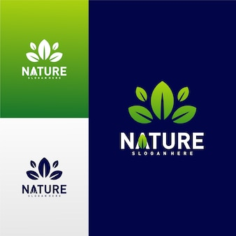 Nature leaf green logo