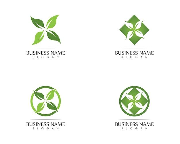 자연 잎 로고 디자인 컨셉