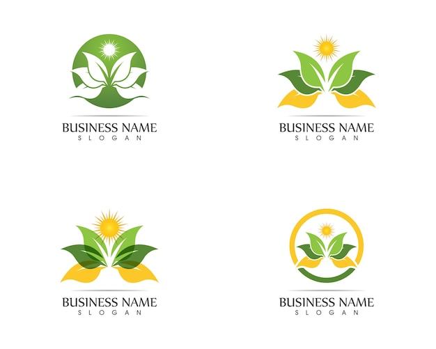 Nature leaf logo design concept