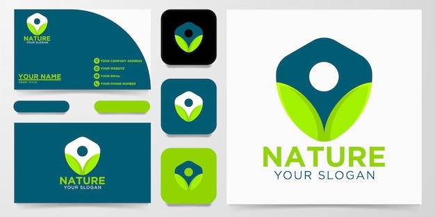 Nature leaf logo design, vector illustration