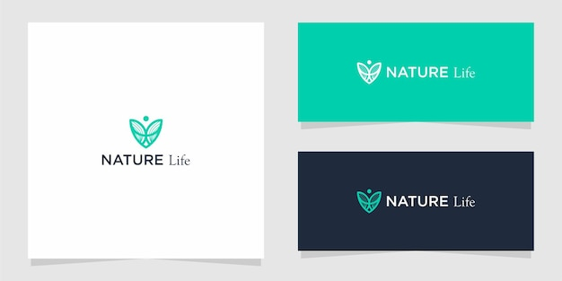 Nature life logo graphic design for other uses is very suitable for use